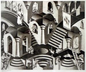 Concave & Convex by Escher